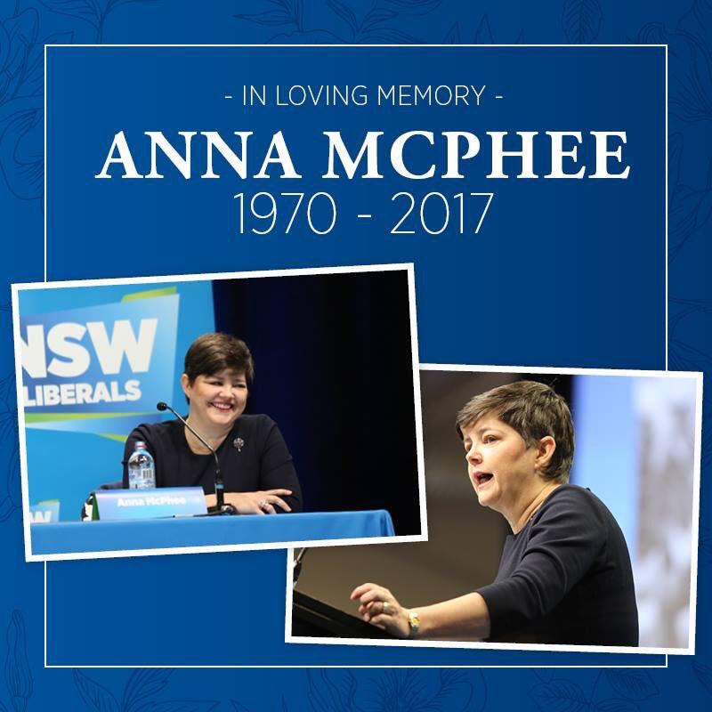 In loving memory of Anna McPhee, 1970-20...