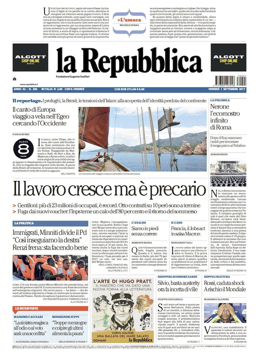 Prima Pagina Repubblica Tutte Le Ultime Notizie Foto E Video In