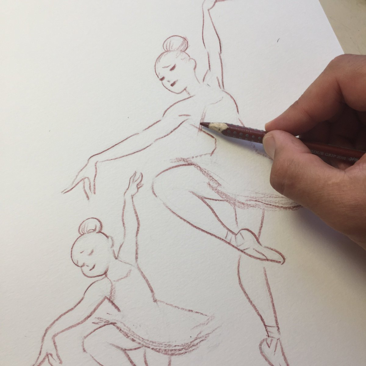 Enrico marini on twitter ballerinas pencils wip for a dance