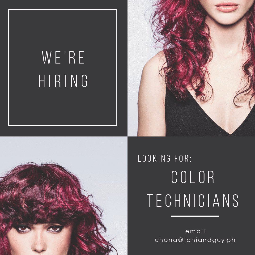 Work with the best and get the chance to receive an intensive training opportunity at Toni&Guy Academy in London! ⬇️ #hiring #salon #color https://t.co/FJ29CG3t7J