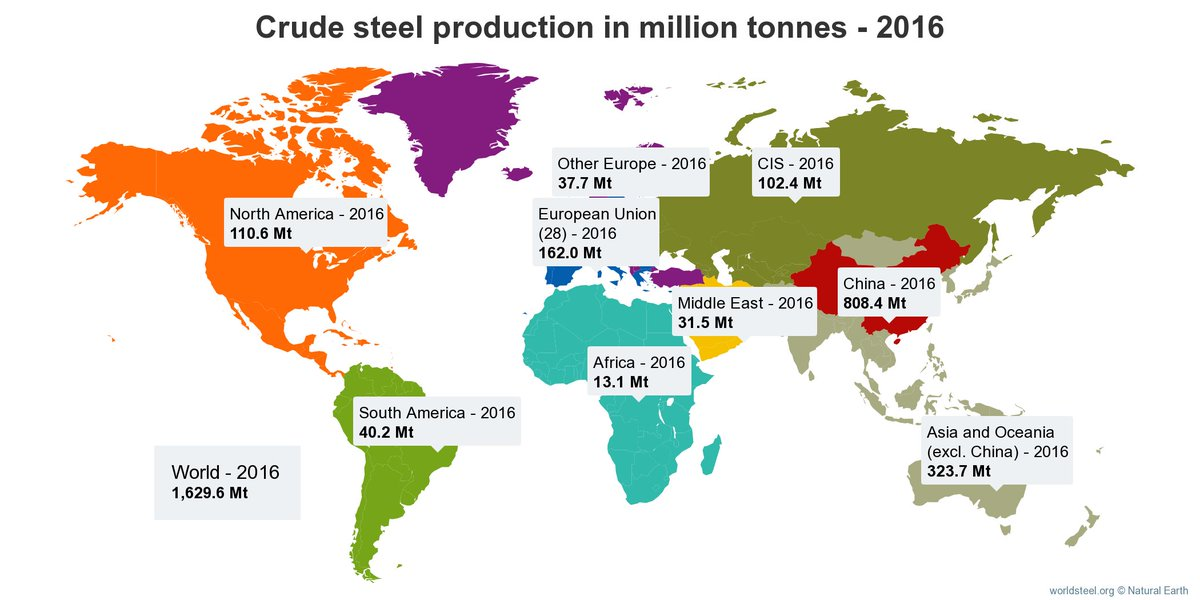 Worldsteel On Twitter Global Interactive Map Showing Crude Steel - Interactive global map