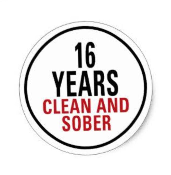 Today I celebrate 16yrs clean & sober.Whoever,wherever u are struggling with addiction,recovery is possible. https://t.co/q7lRjLCUII