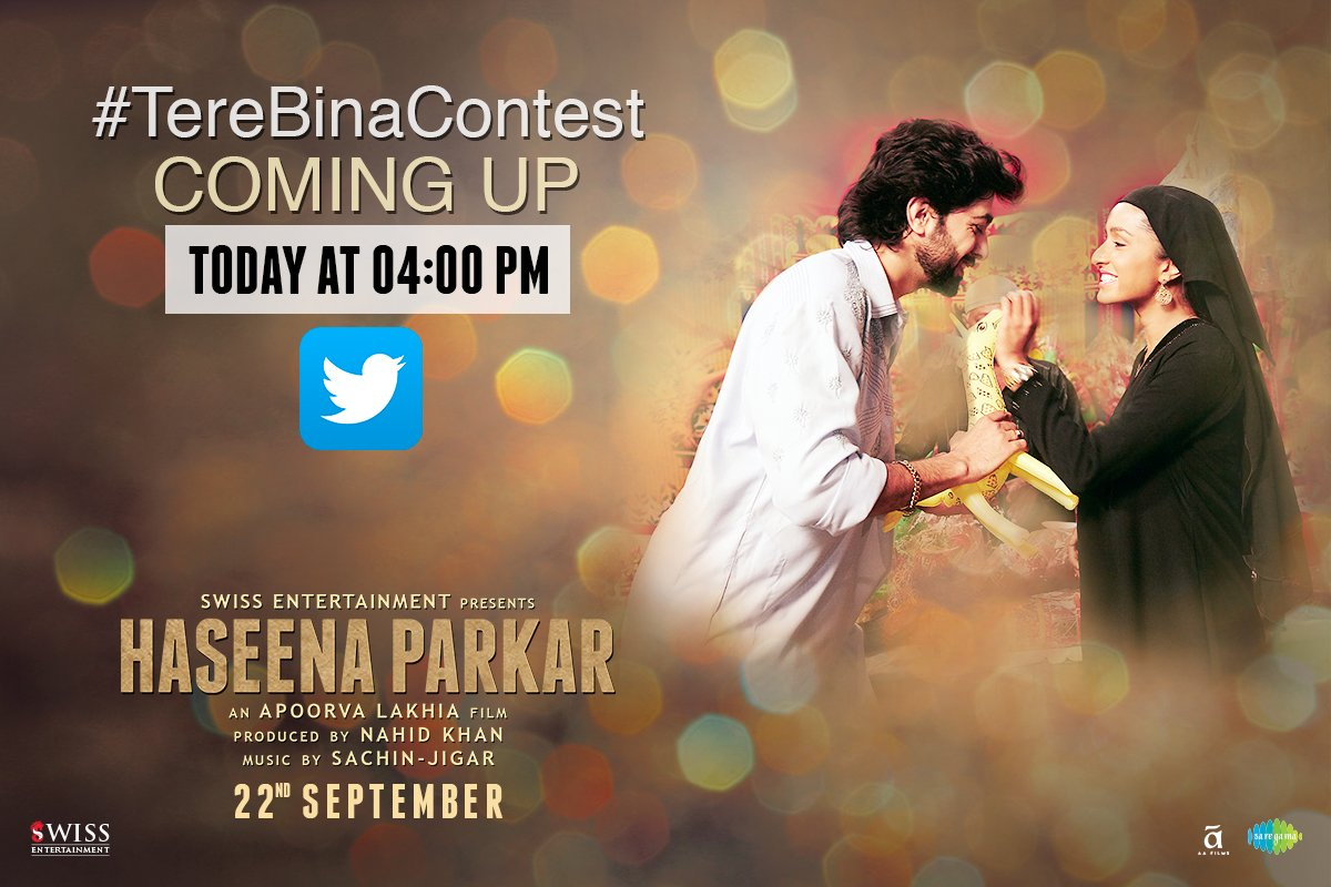 We have an exciting contest coming up! Watch out this space for more updates! #ContestAlert #TereBinaContest #HaseenaParkar @SWISSENTERTAIN3