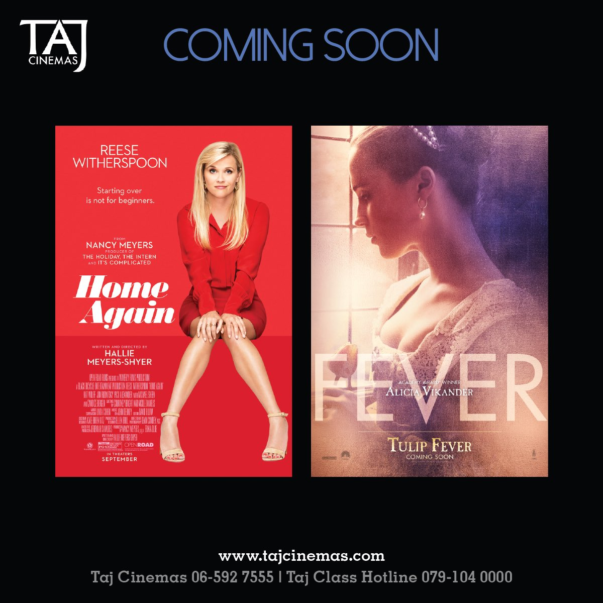 Ladies, we have some interesting movies for you Coming Soon! #TAJCinemas #Movies #Jo #Amman #BeAmman #EidulAdha https://t.co/HJDXYfxlfr