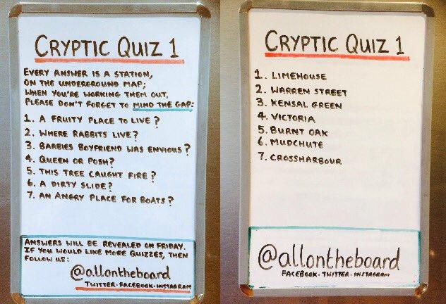 Cryptic quiz