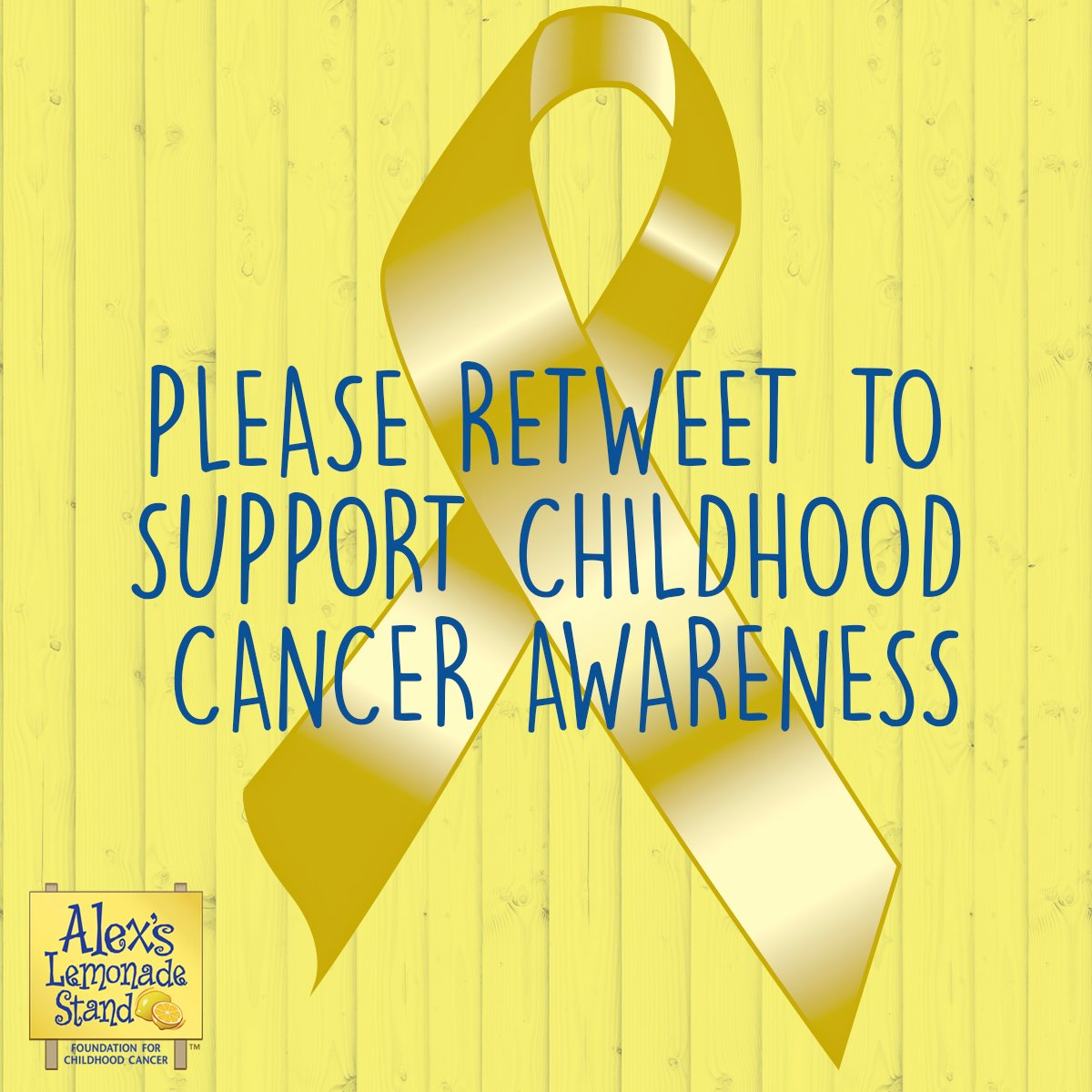 September is Childhood Cancer Awareness Month, please retweet in support of all kids fighting cancer.