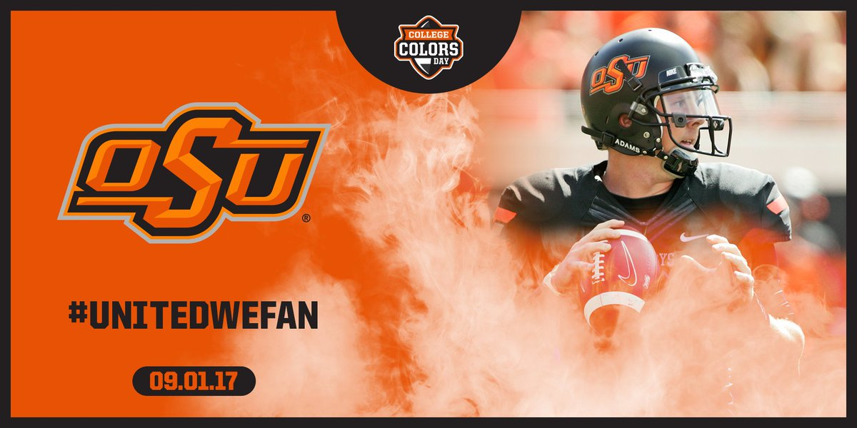 I'm all about @okstate on #CollegeColors Day! You with me @BarrySanders? #GoPokes! #UnitedWeFan #ad https://t.co/FgF8jasRDf