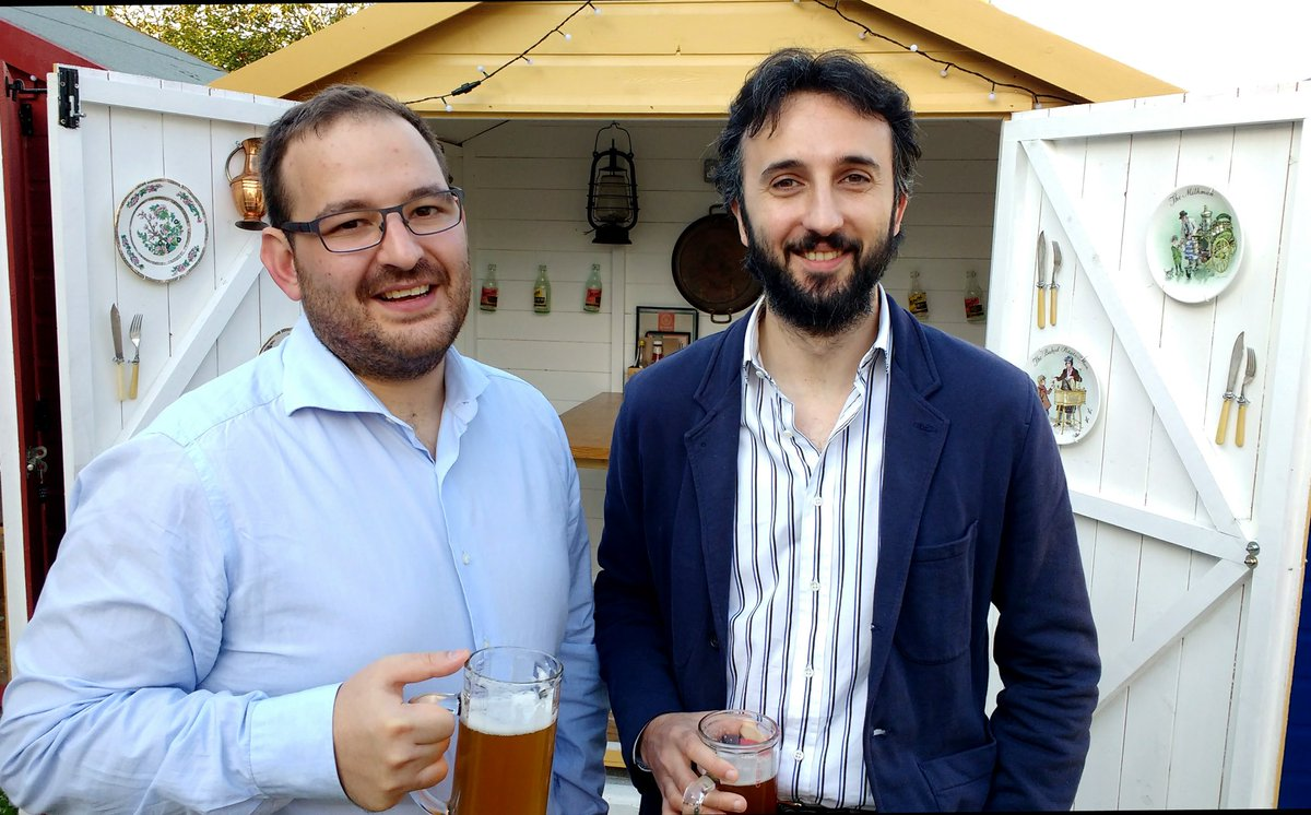 Francesco and Alberto after the PhD viva