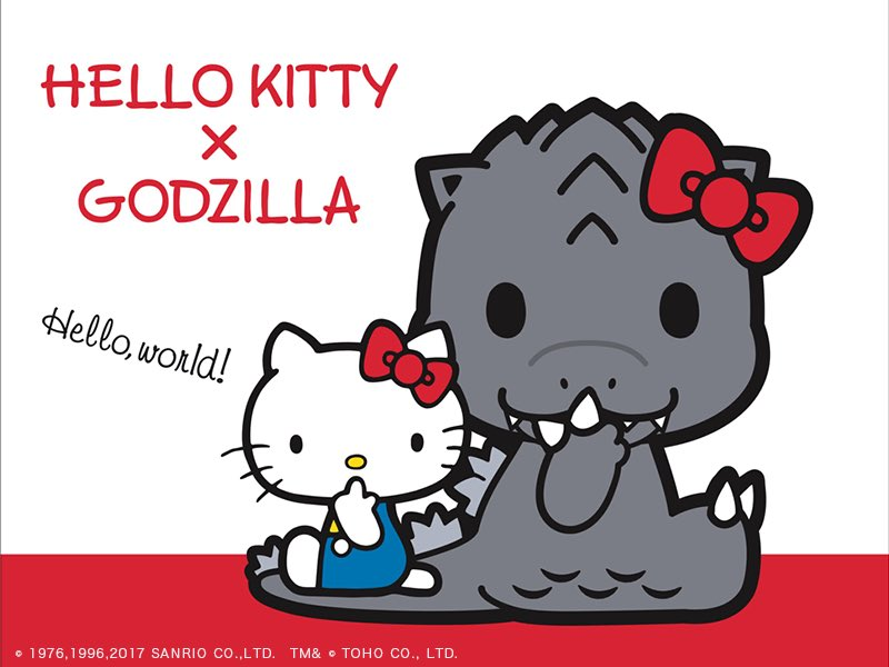 Sanrio is teaming up with Toho to promote Godzilla Monster Planet. This is very important. https://t.co/nwRlbzRFuv