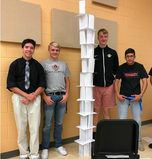 Rachael Ayers On Twitter Mead Students Build Teammanship Through Paper Tower Project Lookin Good