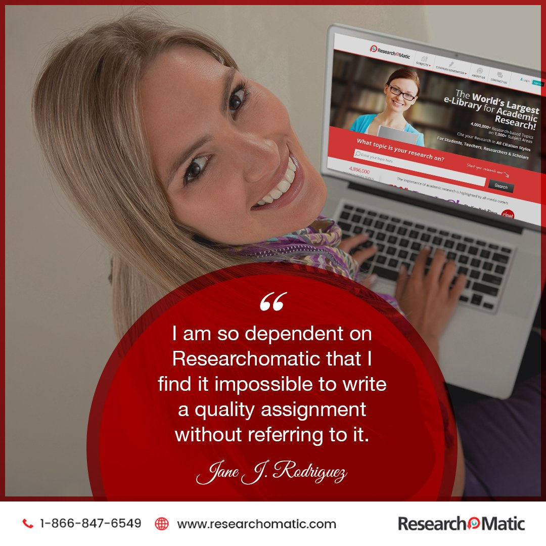 Millions of Students, Teachers &amp; Researchers trust Researchomatic.  #Researchomatic #termpapers #researchpapers #theses #assignments<br>http://pic.twitter.com/D7e5v6YrLW