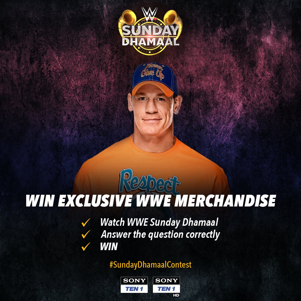 Catch WWE Sunday Dhamaal only on SONY TEN 1 and SONY TEN 1