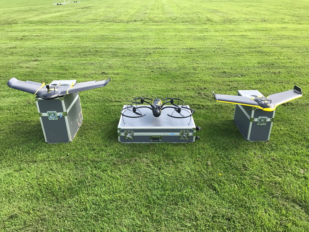 Decisions... decisions. Which to fly first? @sensefly #eBee #eBeePlus or #Albris? #drones #greatflyingweather @KORECGroup<br>http://pic.twitter.com/rLDrLUcpUk