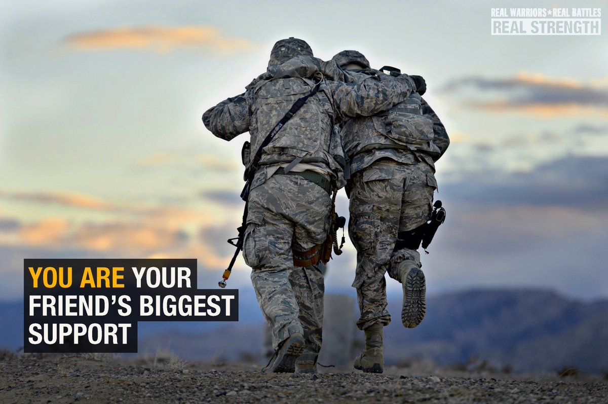 No warrior stands alone. In honor of #SuicidePreventionMonth, know the signs & how to help: https://t.co/3jINIDbNoP https://t.co/lqFUwY4cj4