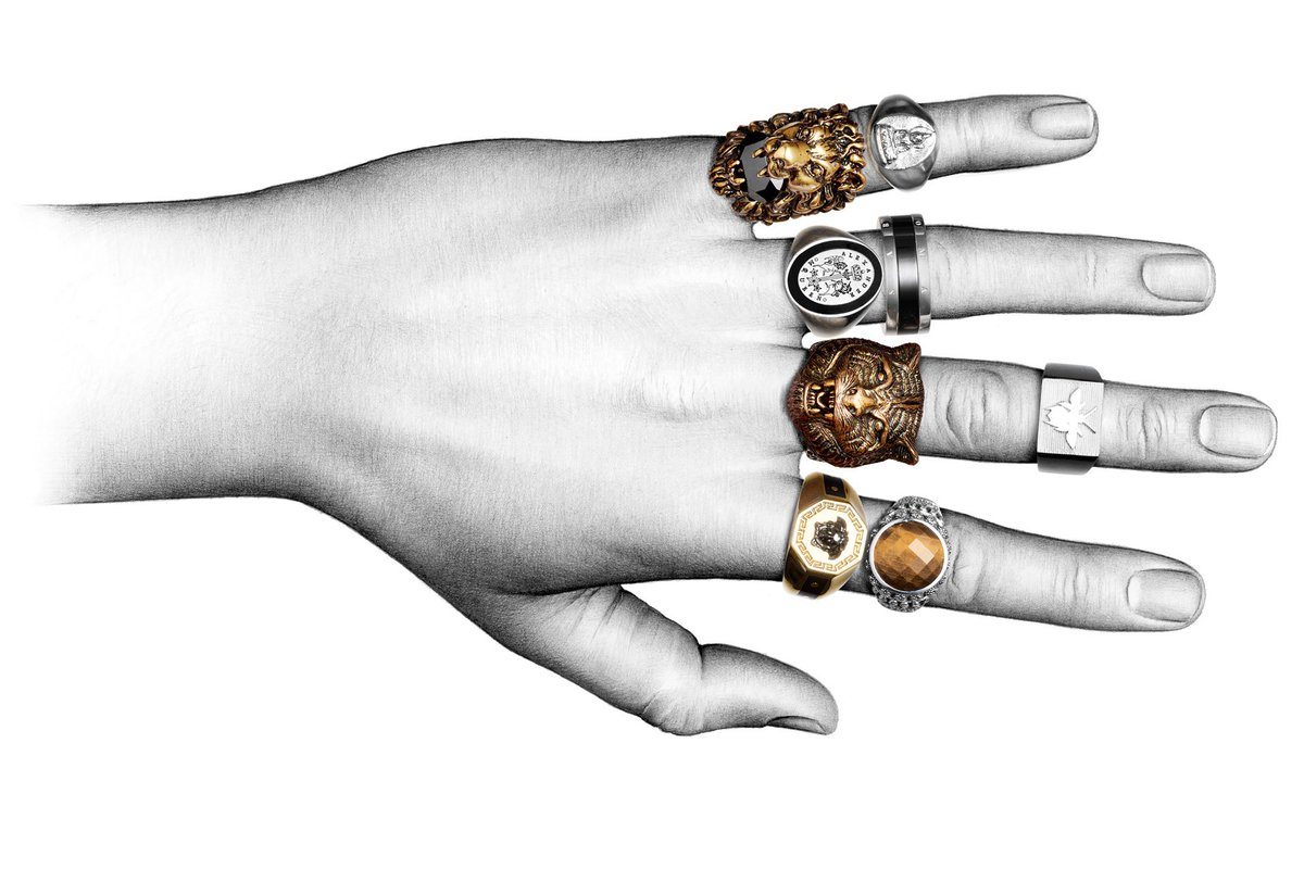 Thanks to @Harry_Styles, wearing multiple rings is now a thing. https://t.co/cTOglC97Jj https://t.co/XCBJcC4ED8