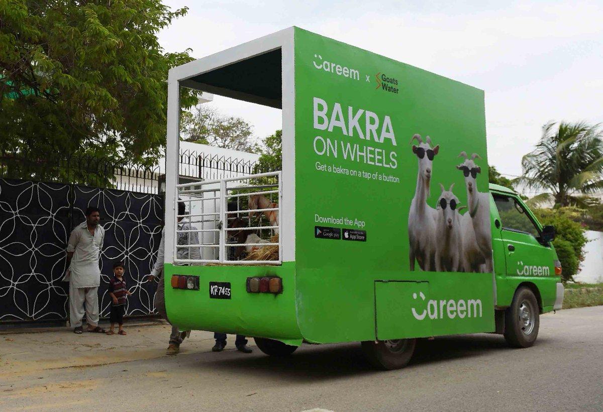 We can\'t get over @CareemPAK\'s #BakraOnWheels 🤣. What a brilliant #EidAlAdha idea!