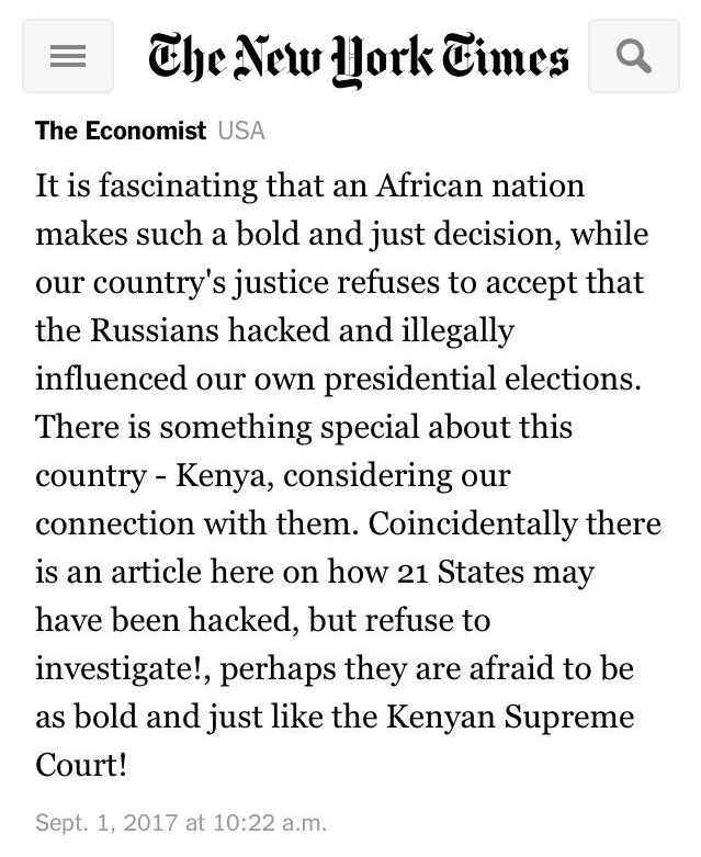 Americans are taking notes thanks to Kenya's Supreme Court ruling. https://t.co/FTwFc6S3G2