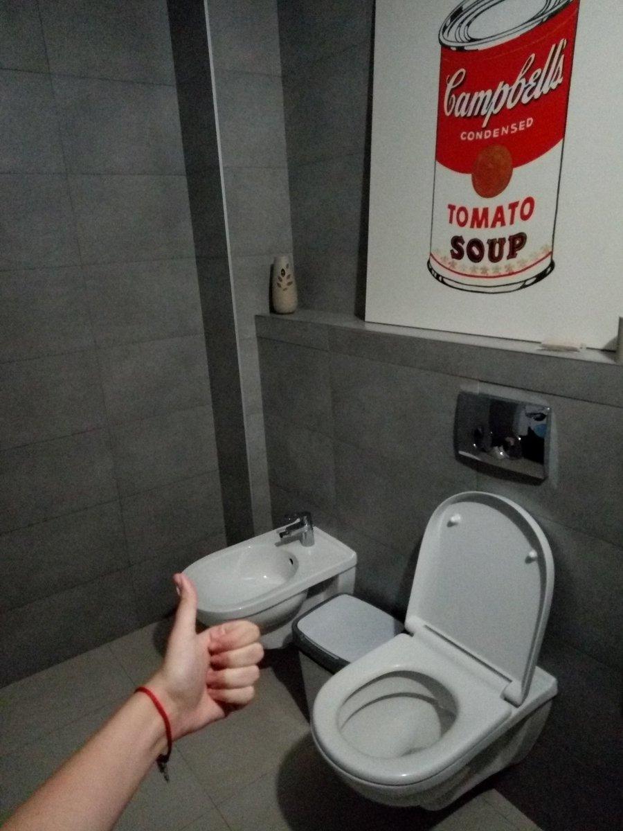 живой туалет в офисе меня был