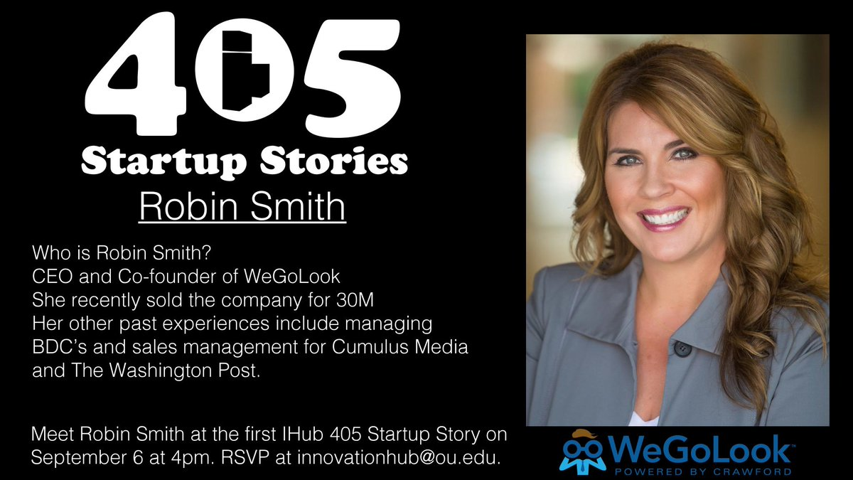 Our first 405 Startup Story is going to be one that you don t want to miss  and it is free! Email innovationhub ou.edu to reserve your  spot.pic.twitter.com  ... 19dbc92ace8c3