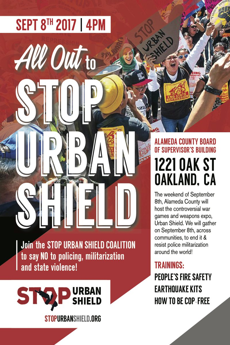 All Out to Stop Urban Shield! @ County Building | Oakland | California | United States