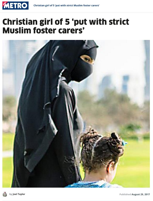 To illustrate a grossly racist story about British Muslims, two UK newspapers took a stock photo from Dubai and photoshopped on a face veil.