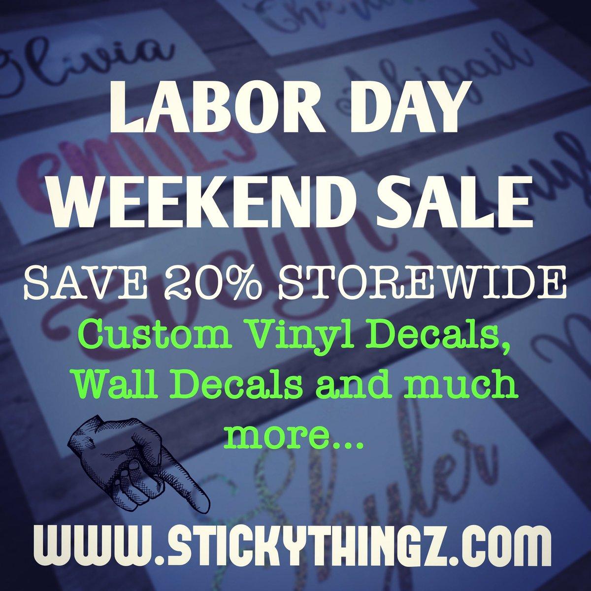Sticky Thingz Decals StickyThingz Twitter - Custom vinyl decals etsy