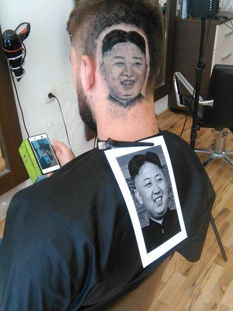Barbeiro cria corte de cabelo com rosto do presidente norte-coreano Kim Jong-Un → https://t.co/KBPtHQDx9m