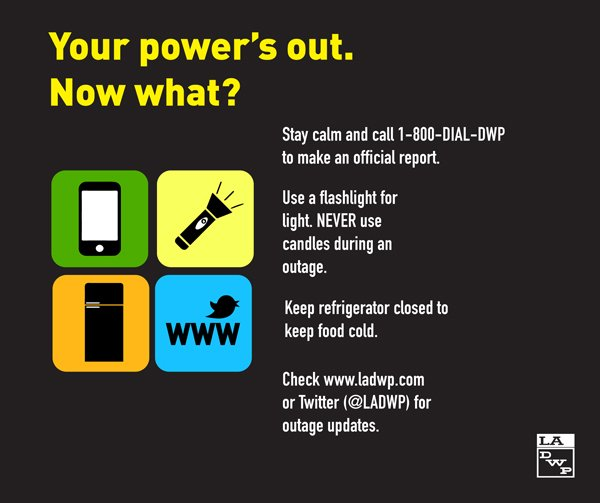 how to report power outage