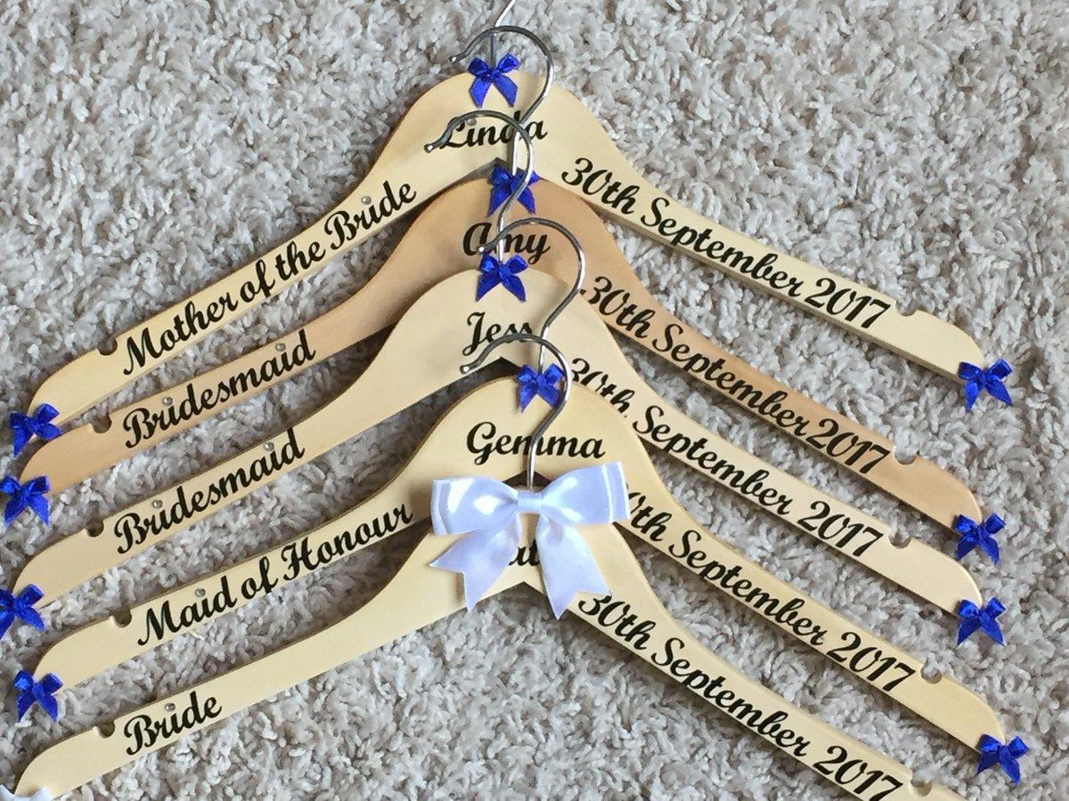 Personalized Wedding Hanger- Bride /& Groom Set Embella Hangers