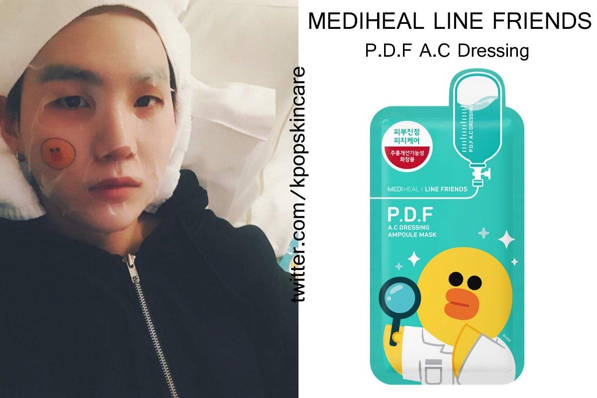 Loveyourself On Twitter Mediheal Line Friends Pdf Ac Dressing Mask Ampoule Bts Suga Agustd Yoongi