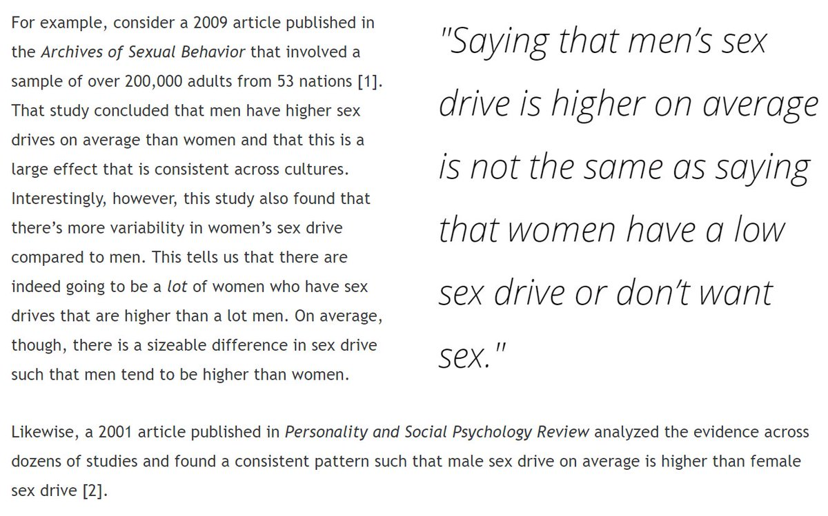 Who has a higher sex drive male or female