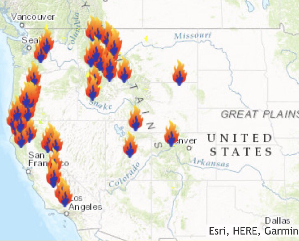 """""""Why is it so damn smoky?""""  """"Oh, because the entire west coast is on fire…"""" https://t.co/S2ayHGGFR4"""
