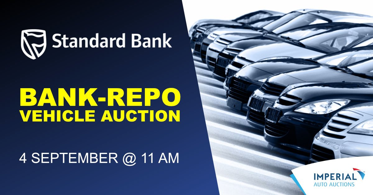 Repo Car Auctions >> Imperial Auctions On Twitter Standard Bank Vehicle Repo