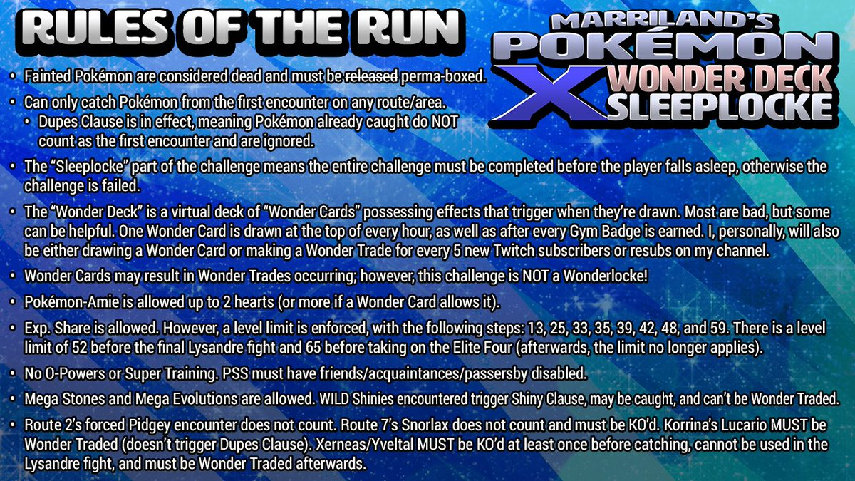 Marriland On Twitter Here Are The Rules For The X WonderDeck - Marriland state