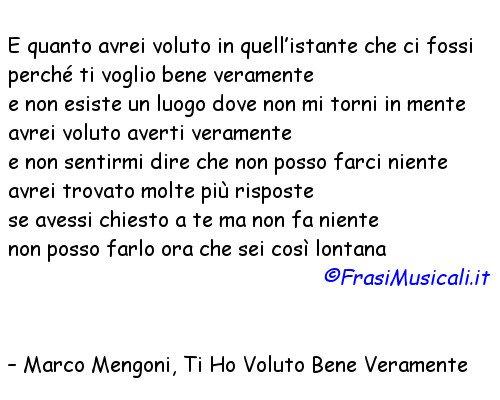 Frasi Musicali On Twitter Marco Mengoni Ti Ho Voluto Bene