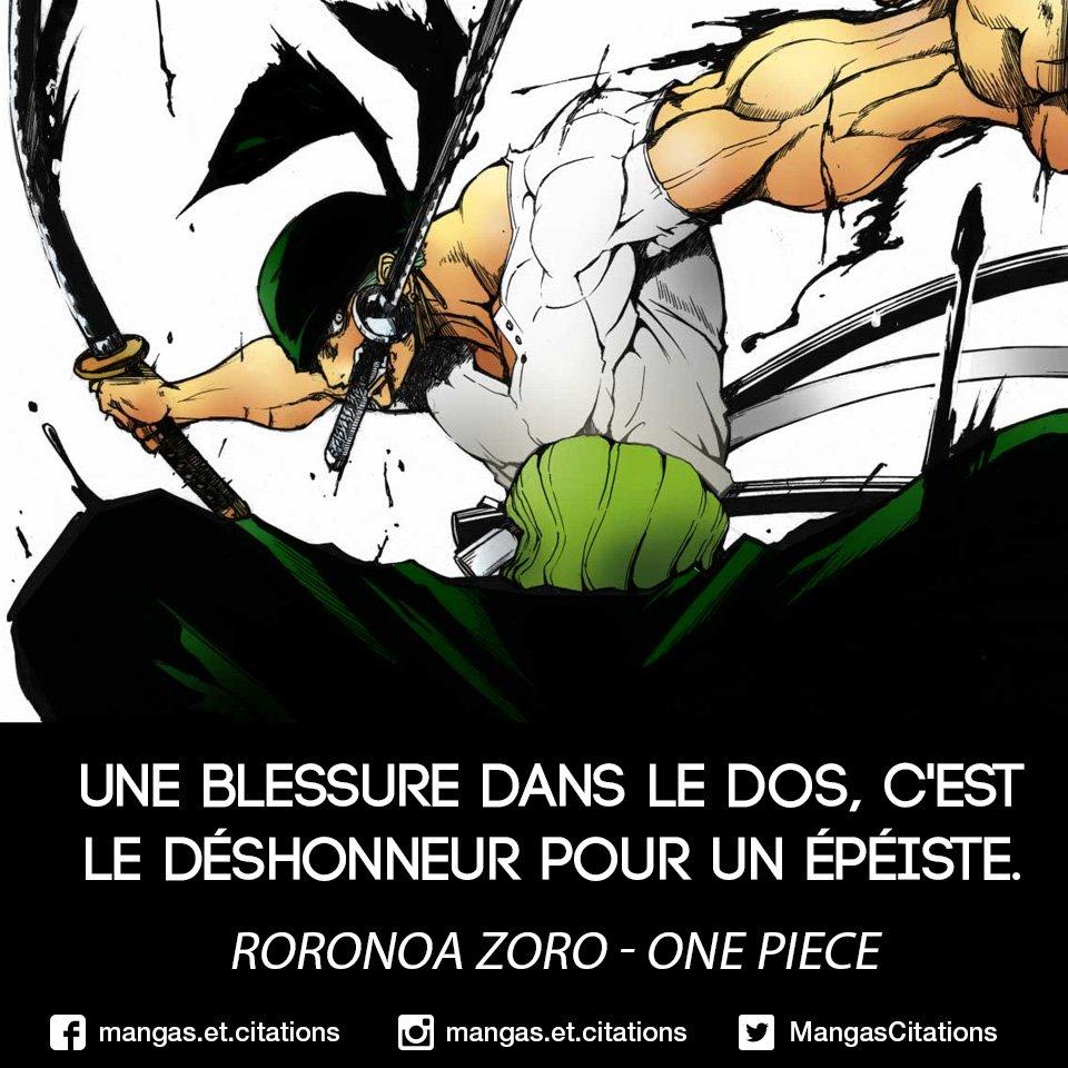 """Citation Manga / Anime on Twitter: """"Une blessure dans le dos, c'est le  déshonneur pour un épéiste. #RoronoaZoro à #Mihawk > #OnePiece #citation  #citationmanga… https://t.co/IrKIENMPTp"""""""