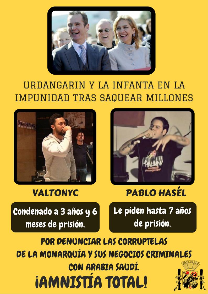 Resultado de imagen de Pablo Hasél y Valtonyc absolucion