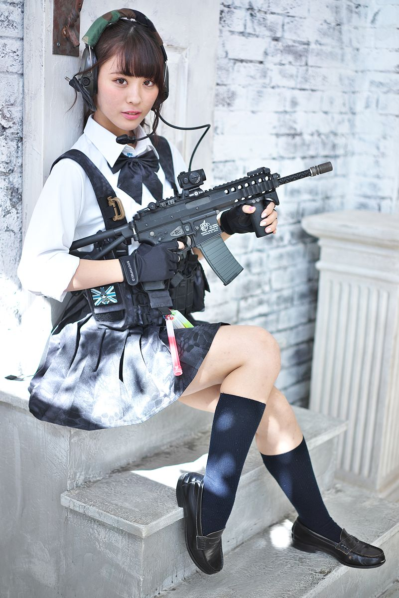 Sorry, that Japanese girls with airsoft guns shooting
