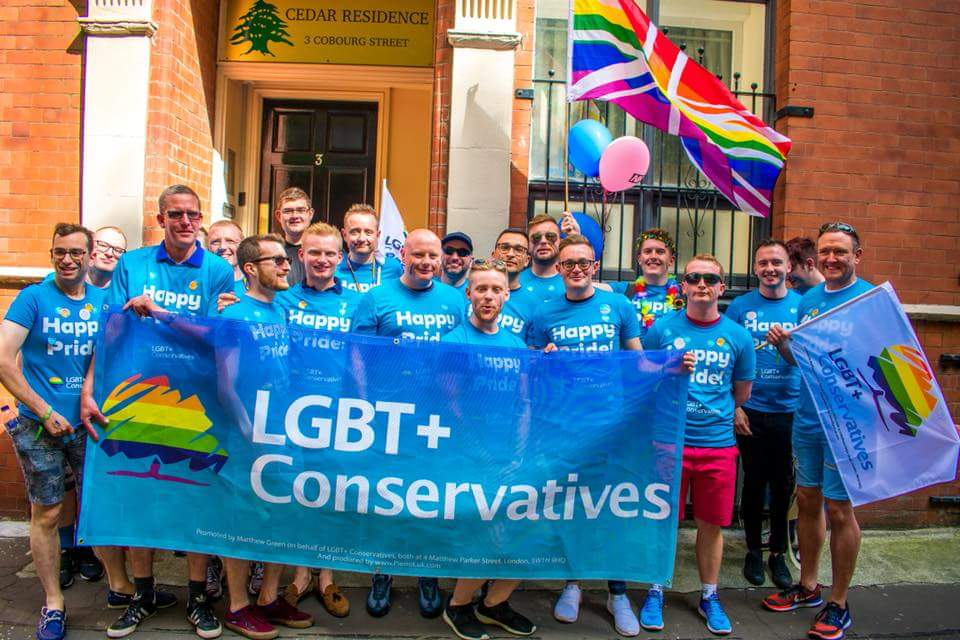 A week ago our @LGBTCons group had a fab time parading through #Manchester city centre for @ManchesterPride!! #ManchesterPride #EqualityWins <br>http://pic.twitter.com/JTkFysAulI