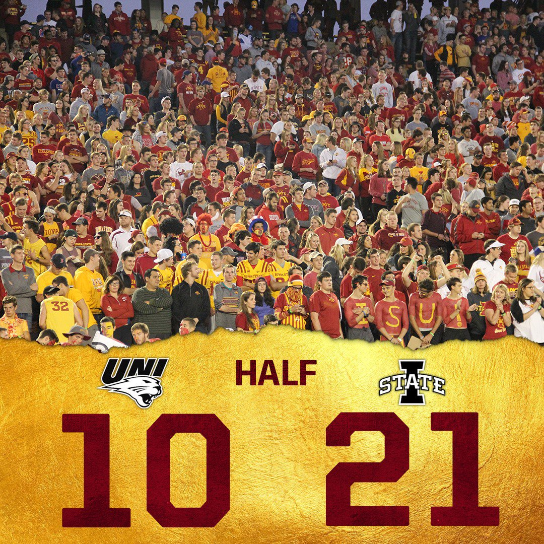 """Cyclone Football on Twitter: """"Iowa State takes a 21-10 ..."""