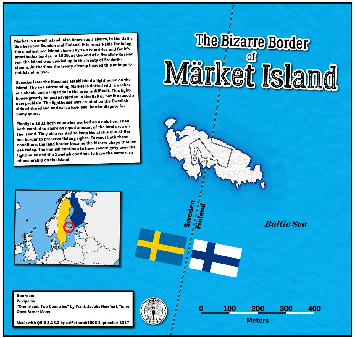 In Difficult And Divided Time New >> Mapporn On Twitter Market Island The Bizarre Border Between