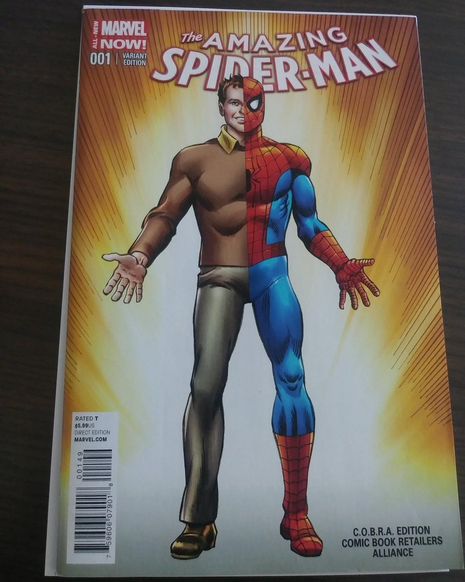 1 beautiful cover. #marvelnow #amazingspiderman #1 variant cover by Mr. #johnromita I love it. #spiderman #spidey #webhead #marvel #comics<br>http://pic.twitter.com/GInStKbqY4