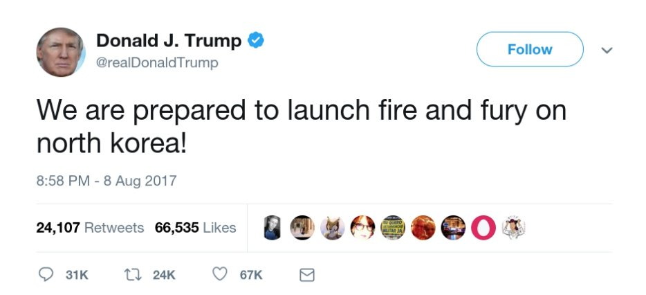 Image result for fire and fury tweet