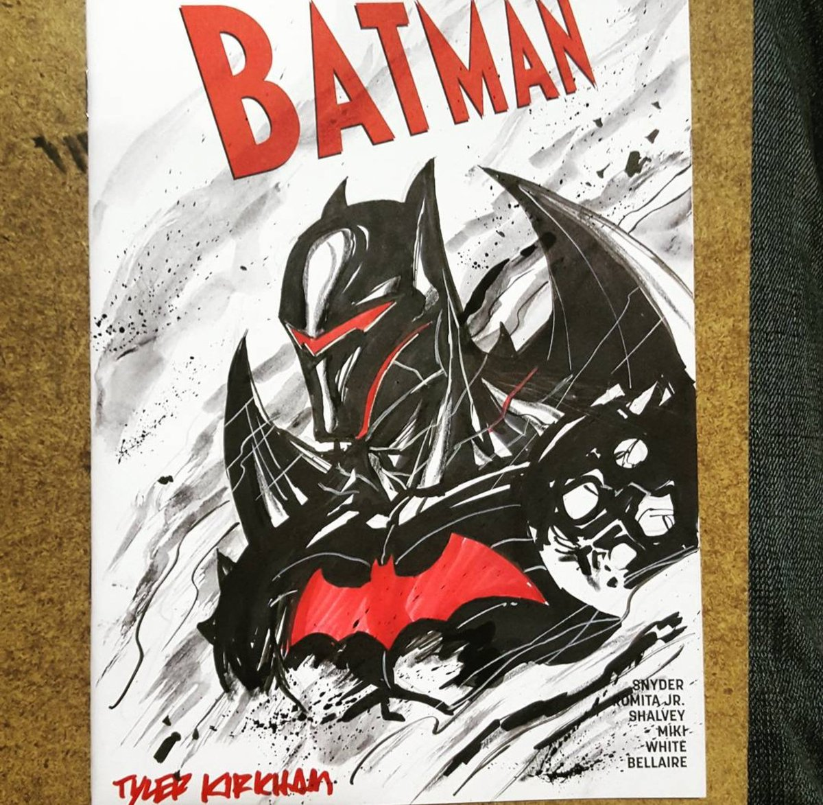 tyler kirkham on twitter hellbat batman sketch from longbeachcomiccon drawing sketches art comicartist tylerkirkham drawings dccomics