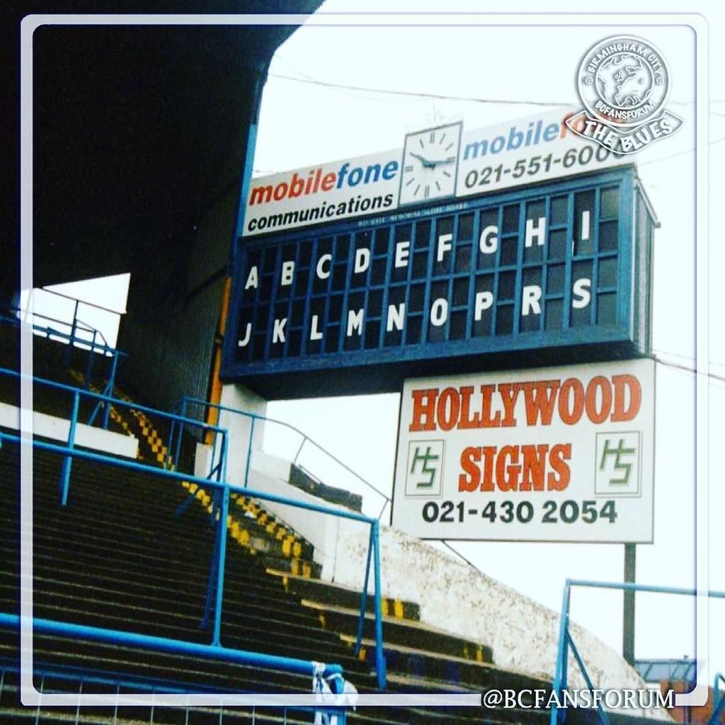 Who remembers looking at this at Halftime down at St Andrews? #bcfc #kro https://t.co/4wsc30J2IB https://t.co/Wa6CmIPhBi