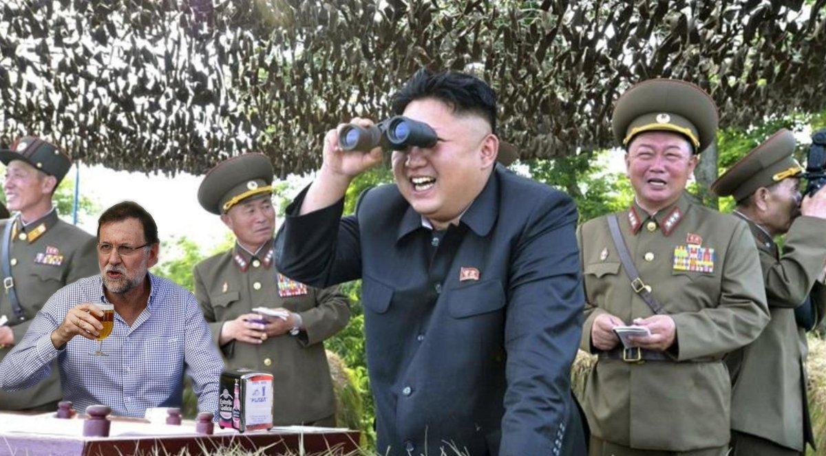 Resultat d'imatges de Rajoy en Corea del Norte