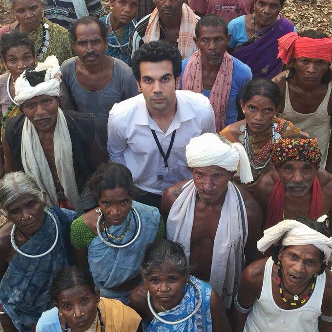 With my most wonderful co actors from #Newton. Releasing on 22nd Sep. #RealPeople #RealIndia @aanandlrai @ManMundra @ErosNow @Amit_Masurkar https://t.co/GaPWHOf3V0