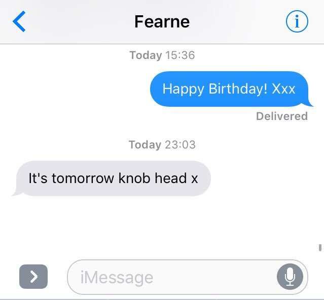 Shove it up your arse then.   Ps. Happy Birthday for TODAY, @Fearnecotton X https://t.co/W28lIH9J7W