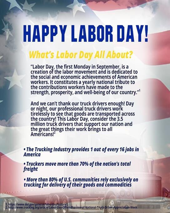 Doss Logistics On Twitter Happy Labor Day To All Our Extended