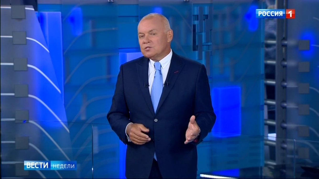 OK. Now I know summer here is really over. Kiselev is back on Russian TV with his News of the Week show. https://t.co/tbvGUCMxuz